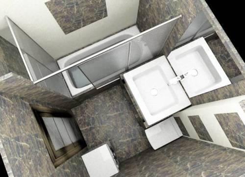 Ванная комната 3 кв. м. Фото 8
