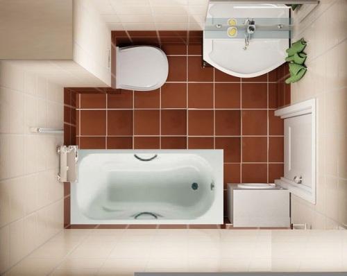 Ванная комната 4 кв. м. Фото 6