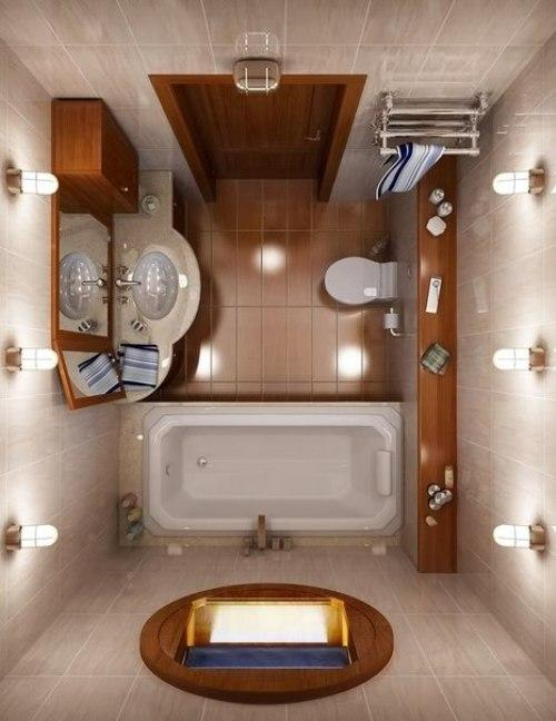Ванная комната 4 кв. м. Фото 7
