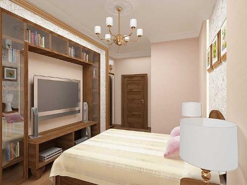 Высота установки телевизора в спальне на стене