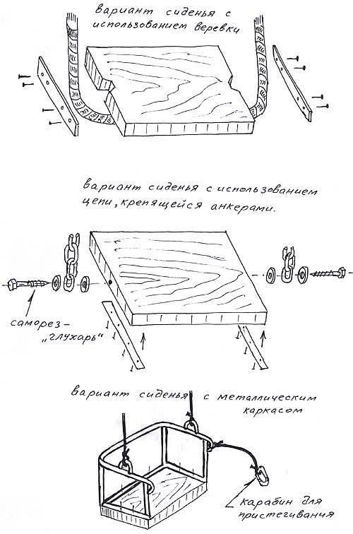 Сидение для деревянной качели. Чертеж