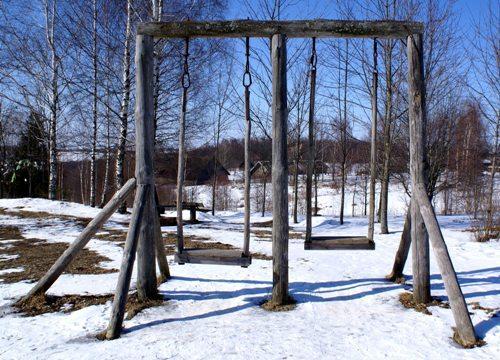 Деревянные садовые качели своими руками для дачи