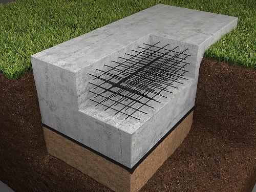 Сплошной монолитный фундамент под дом из пеноблоков