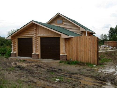 Как сделать деревянный гараж из оцилиндрованного бруса?