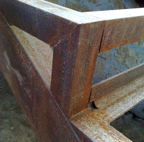 Сварка ступеней металлической лестницы