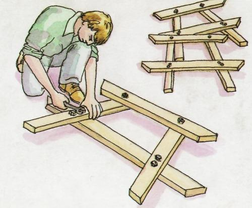 Как собрать стол для пикника