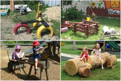 Роделки для детской площадки своими руками