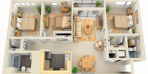 Планировка комнат в частном доме