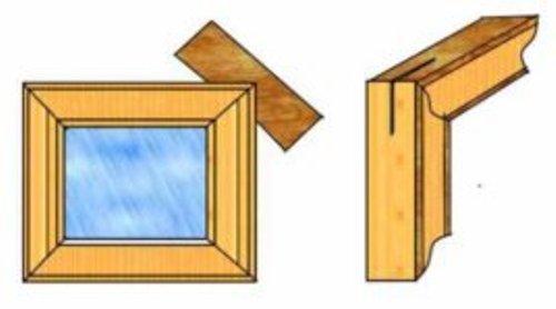 Деревянная рамка для зеркала своими руками