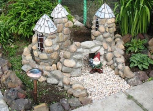 замок для сада своими руками