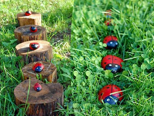 Разрисованные камни для сада