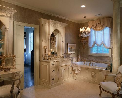Классический стиль в интерьере ванной комнаты
