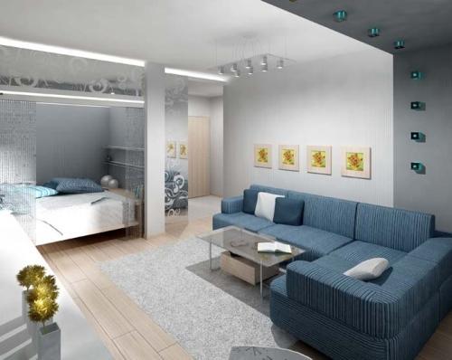 Большое пространство маленькой квартиры
