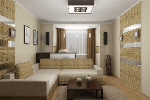 Уютный интерьер однокомнатной квартиры