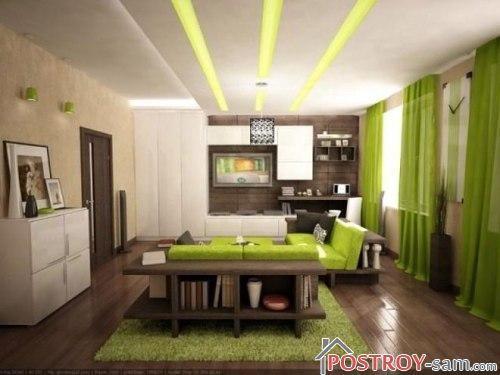 Красивый дизайн однокомнатной квартиры