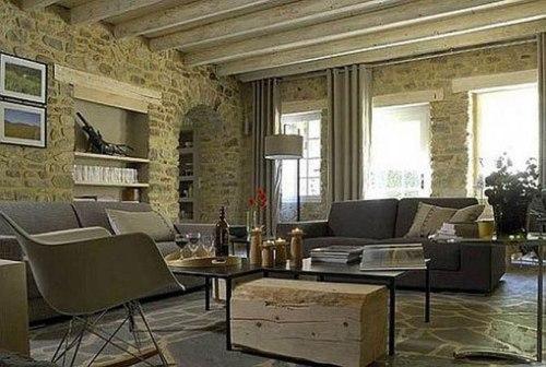 Дизайн квартиры в камне