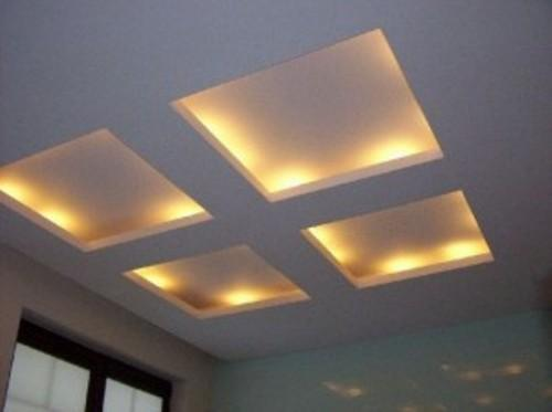 Потолок с квадратами