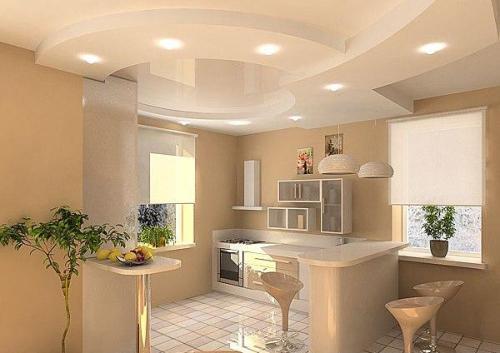 Потолок в кухне