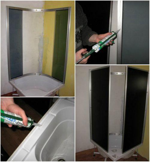 Установка дверей в душевой кабине