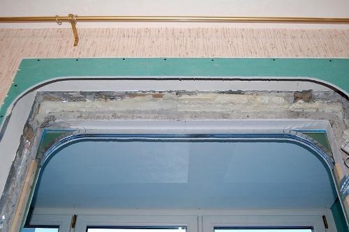Зашиваем арку листами гипсокартона снаружи