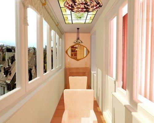 Оформление балкона в классическом стиле