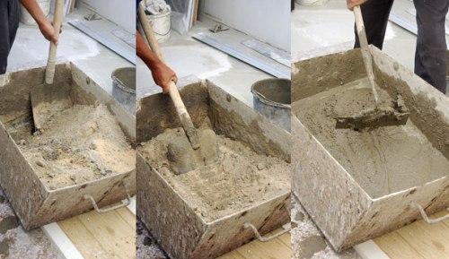 Как правильно сделать цементно-песчаный раствор?