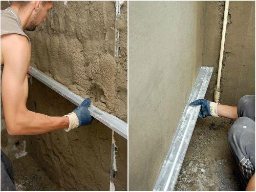 Как штукатурить стены цементным раствором