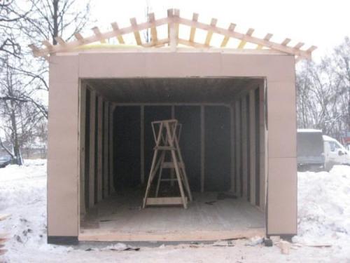 Внутренняя отделка стен каркасного гаража