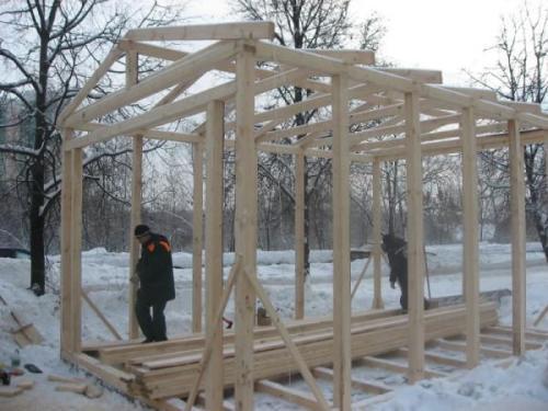 Строим каркас гаража