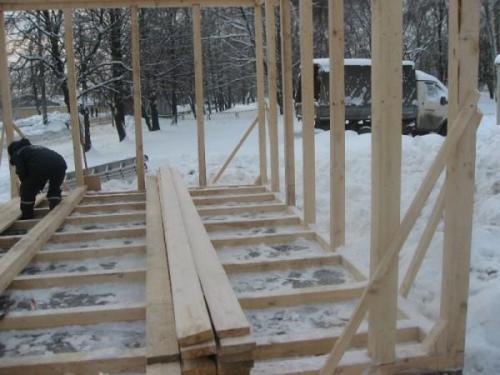 Каркасный гараж своими руками: поэтапное строительство гаража. Фото