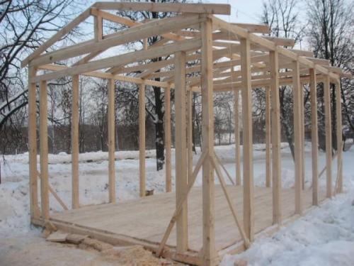 Как построить дешевый гараж своими руками 93