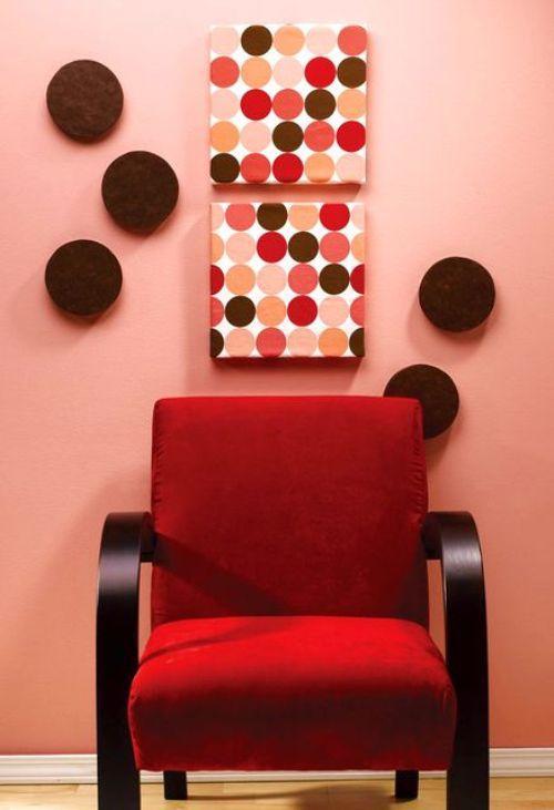 Картина на пенопласте в виде разноцветных кружочек