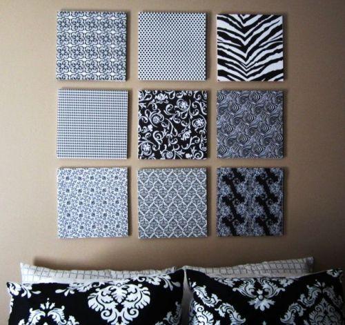 Черно-белые картины из пенопласта в спальню