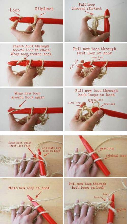 Фото инструкция по вязанию коврика