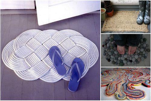 Как сделать коврик своими руками на пол?