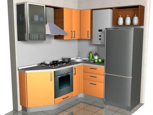 Небольшая кухня. Фото
