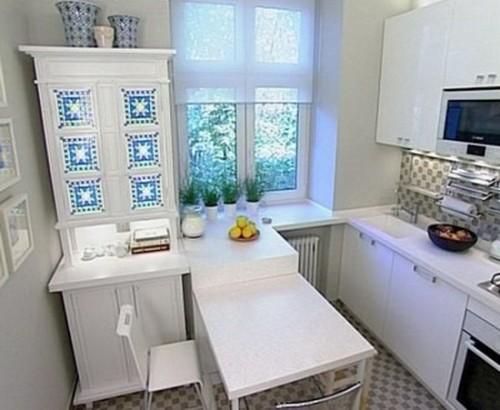 Белая кухня 5 кв. м