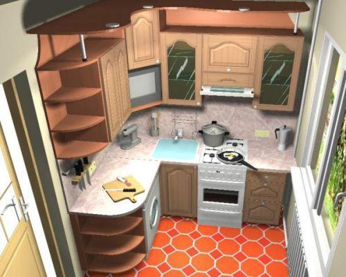 Проект кухни 5 кв. м