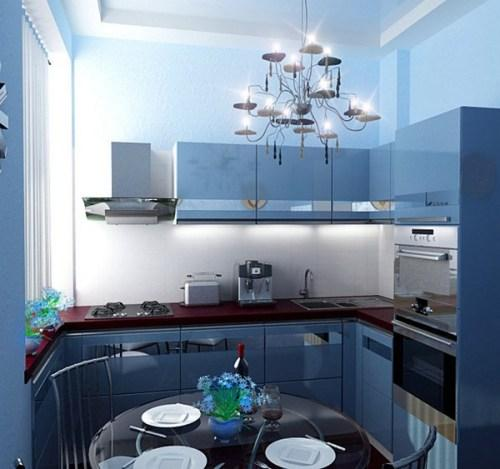 Узкая кухня 9 кв м дизайн фото
