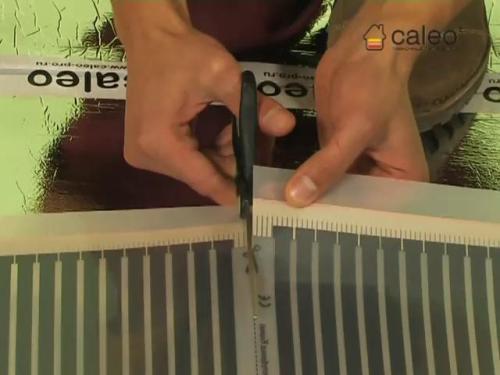 Как резать пленочный теплый пол