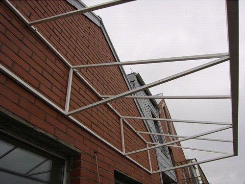 Стропила крыши из поликарбоната