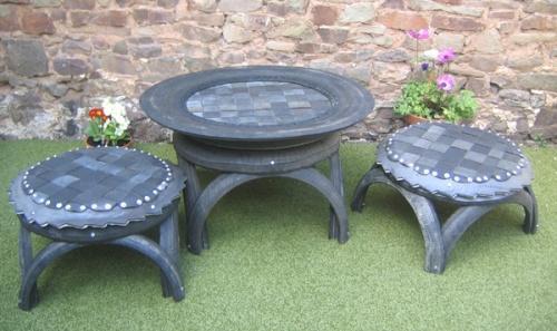 Мебель из покрышек для сада