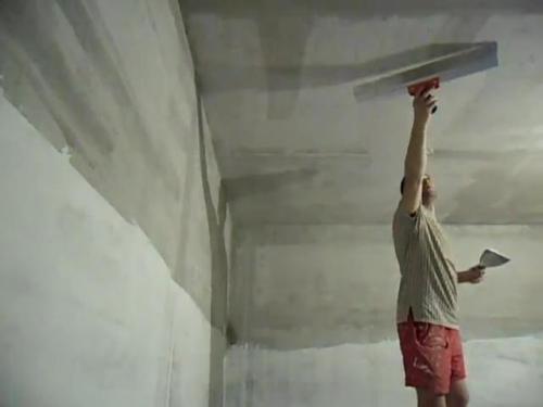Выравнивание потолка шпаклевкой