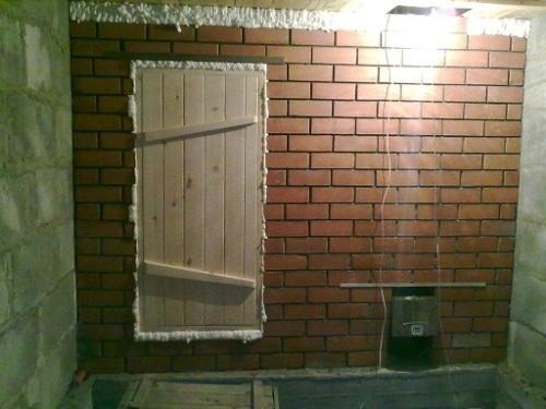 Установка двери в парной