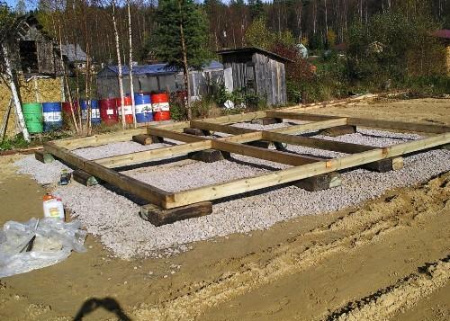 Фундамент своими руками из деревянных шпал 84
