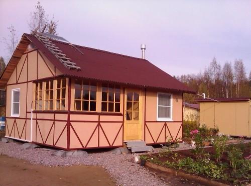 Как построить дачный домик. Фото