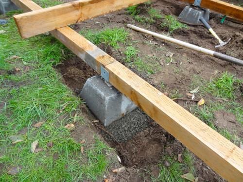 Фундаментные блоки для террасы