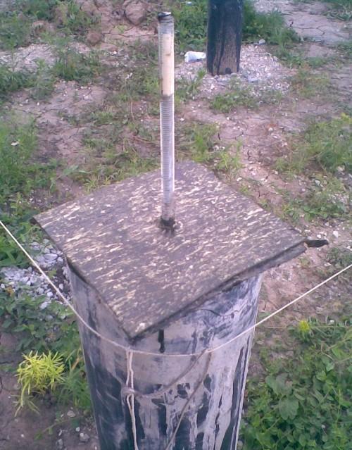 Фундамент из асбестовых труб своими руками фото