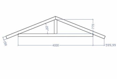 Чертеж стропильной части крыши