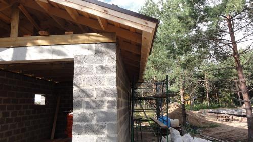 Крыша над гаражем